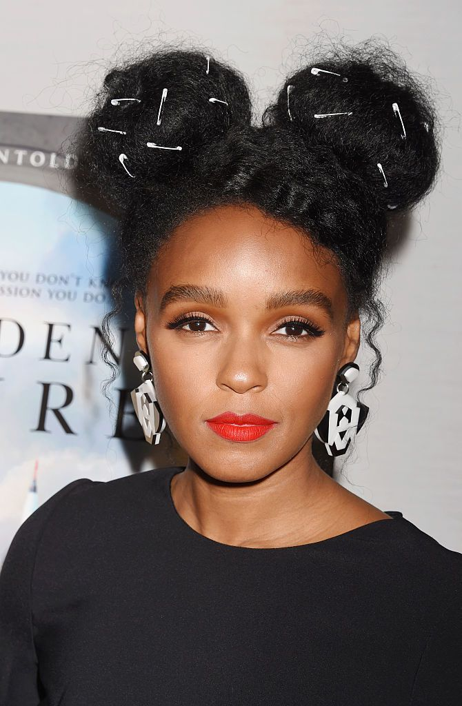 janelle monae natural hair styles janelle monae wears safety pins in hair and not for 2833 | ed365a7843dc3db5bfc13588efa944c0