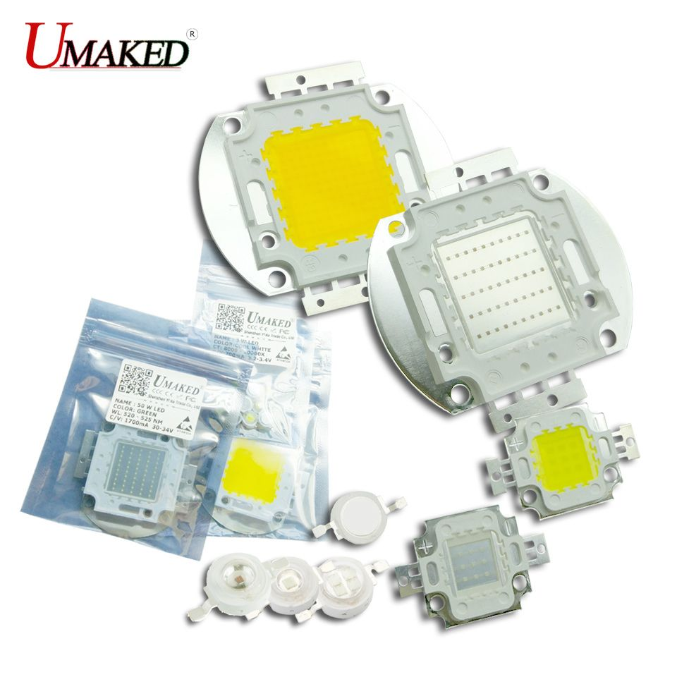 medium resolution of umaked high power led chip 45mil size 1 3w 5w 10w 20w 30w 50w 100w bulb smd cob ball warm white cool red blue green light source