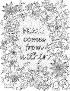 Enjoy 2 Free Images From Coloring Inspirational Quotes The Adult Book Illustrated By Mariya