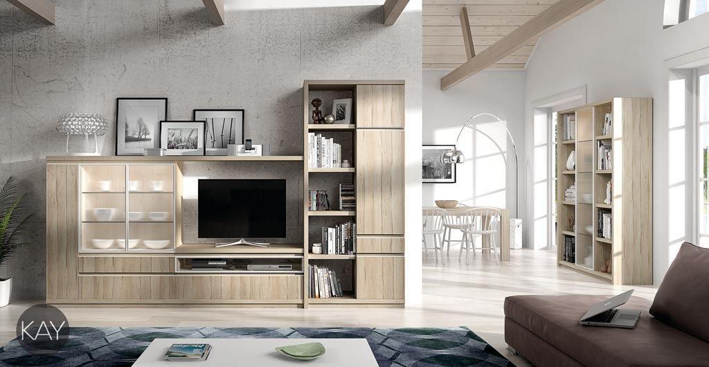 Mobiliario con vitrinas del catálogo de salones y comedores KAY ...