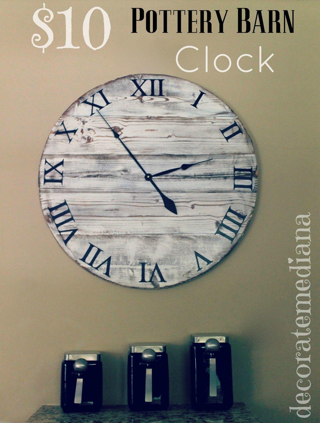 Down Oxford Street Pottery Barn Knock Off Clock