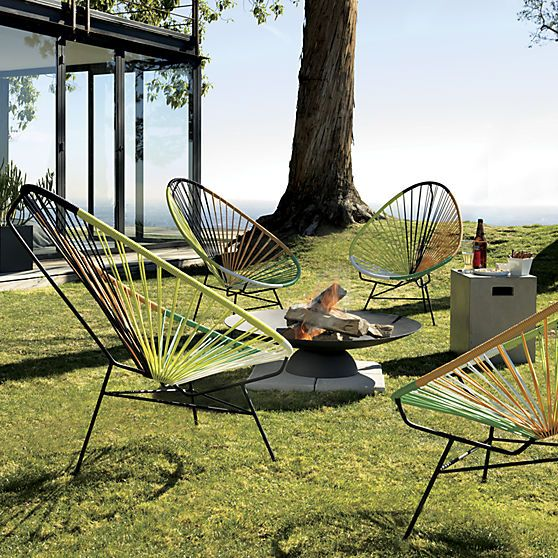 Hemstad white chair  The courtyard Outdoor lounge and Outdoor