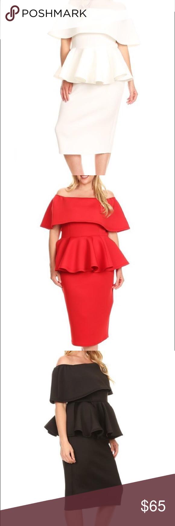 Olivia peplum dress boutique peplum dresses pencil skirts and closure