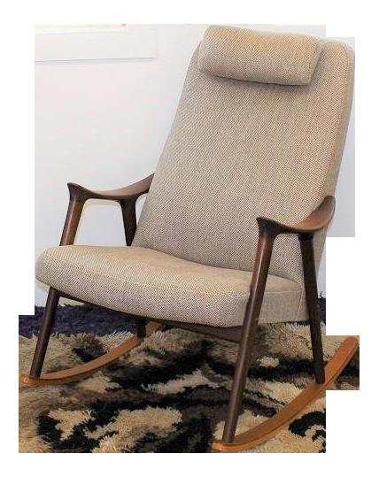 Mid Century Modern Danish Rocking Chair On Chairish Com Rocking