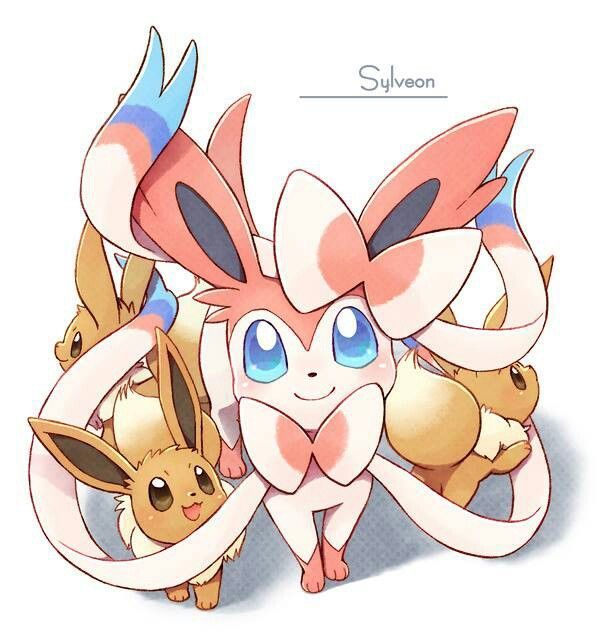 Eevees and sylveon  Eevees and sylv...