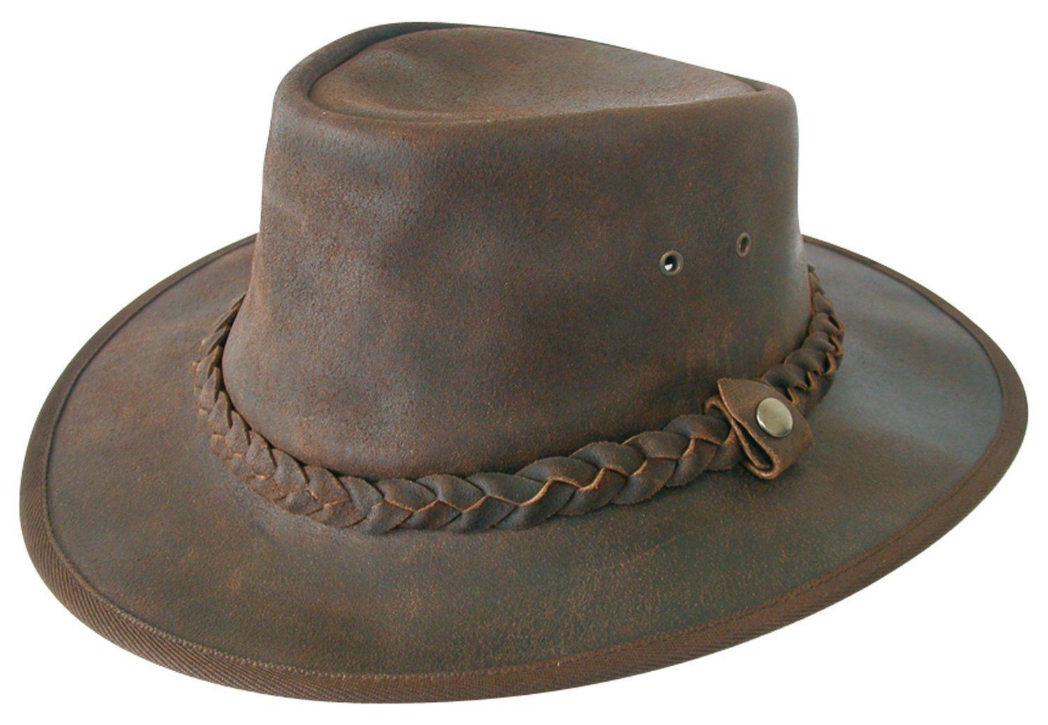 Explorer Brown Leather Bush Hat from Cotswold Country Hats. Small ... eb4d838b847