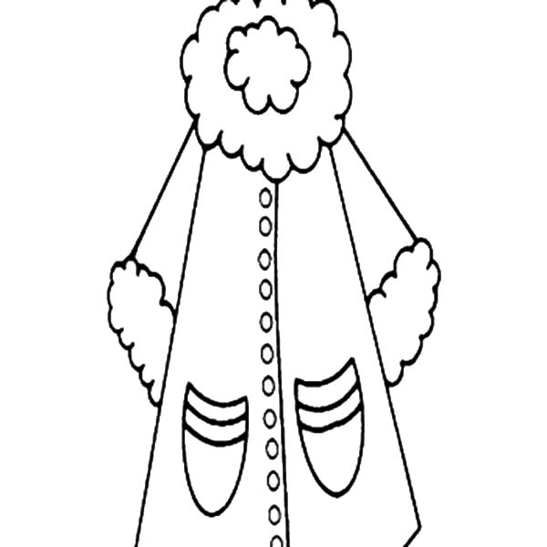 Coat For Women In Winter Clothing Coloring Page Coloring Sun Coloring Pages Color Winter Outfits