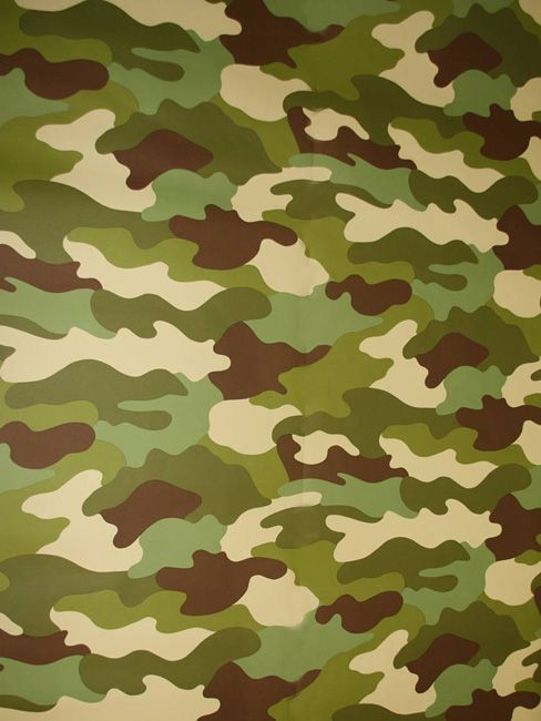 Camouflage Wallpaper 10m. Ideal For Army, Khaki Green And Solider Themed  Bedrooms. Matching Bedding And Curtains Also Available.