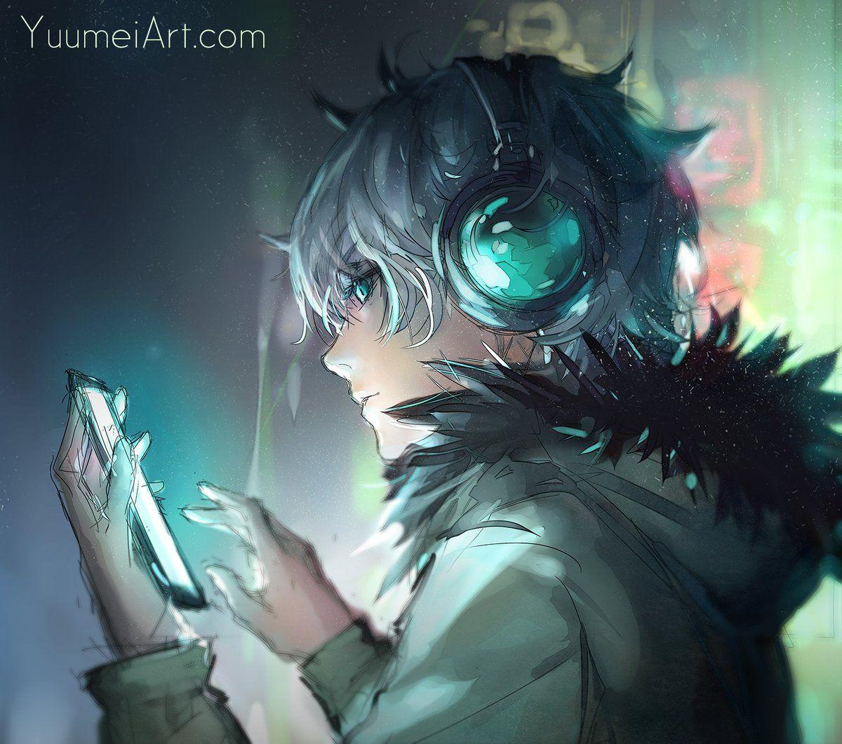 Twitter Fisheye placebo, Anime music, Anime drawings boy