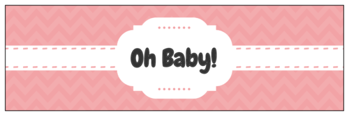 Oh Baby Water Bottle Label Printable Stickers For Any Baby Shower