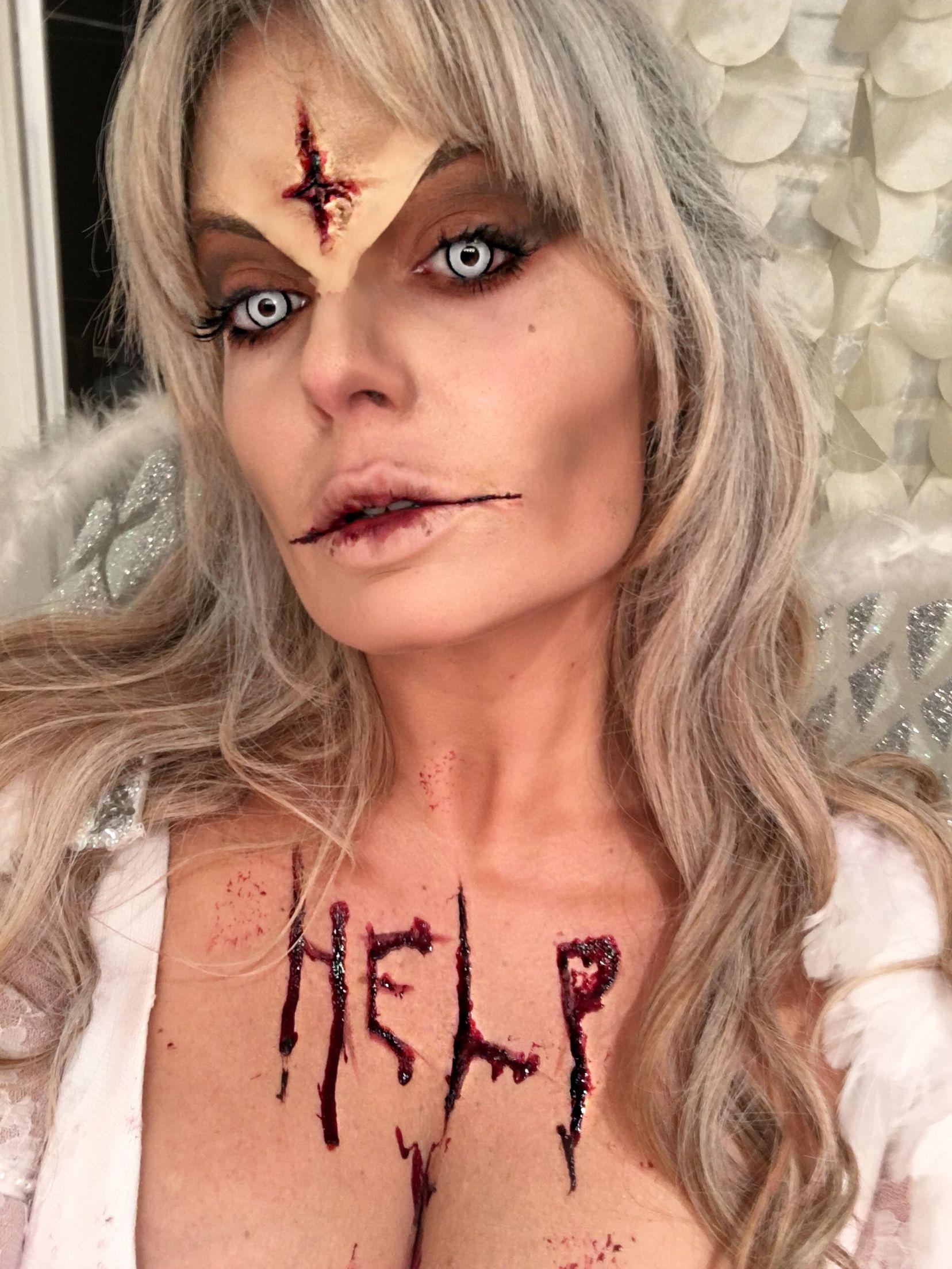 fallen angel halloween makeup | www.topsimages