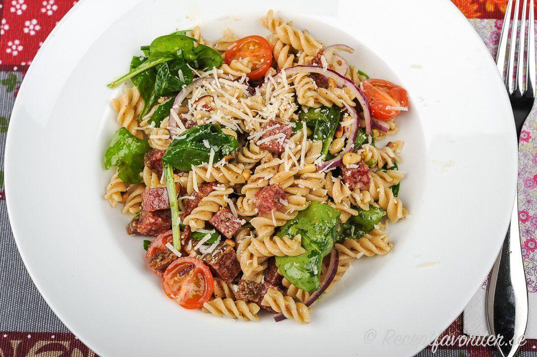 Italiensk Pastasallad Recept Pastasallad Pastasallad Recept