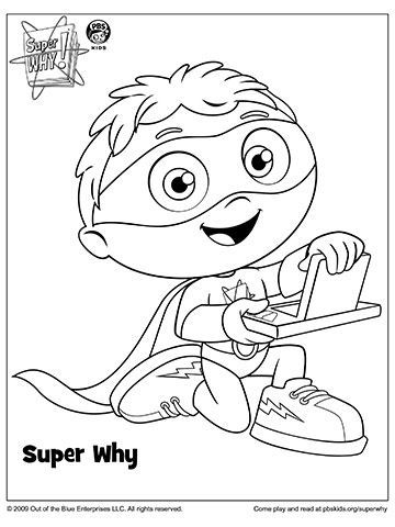 SUPER WHY Coloring Book Pages | Baby | Pinterest | Colores, Fiesta y ...