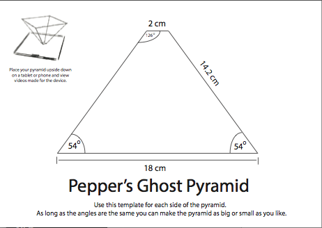 hologram triangle template  3d hologram projector pyramid - Buscar con Google | DIY ...