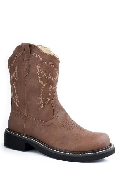 dcb243754de Roper Women's Chunk Rider Faux Leather Round Toe Cowgirl Boots ...
