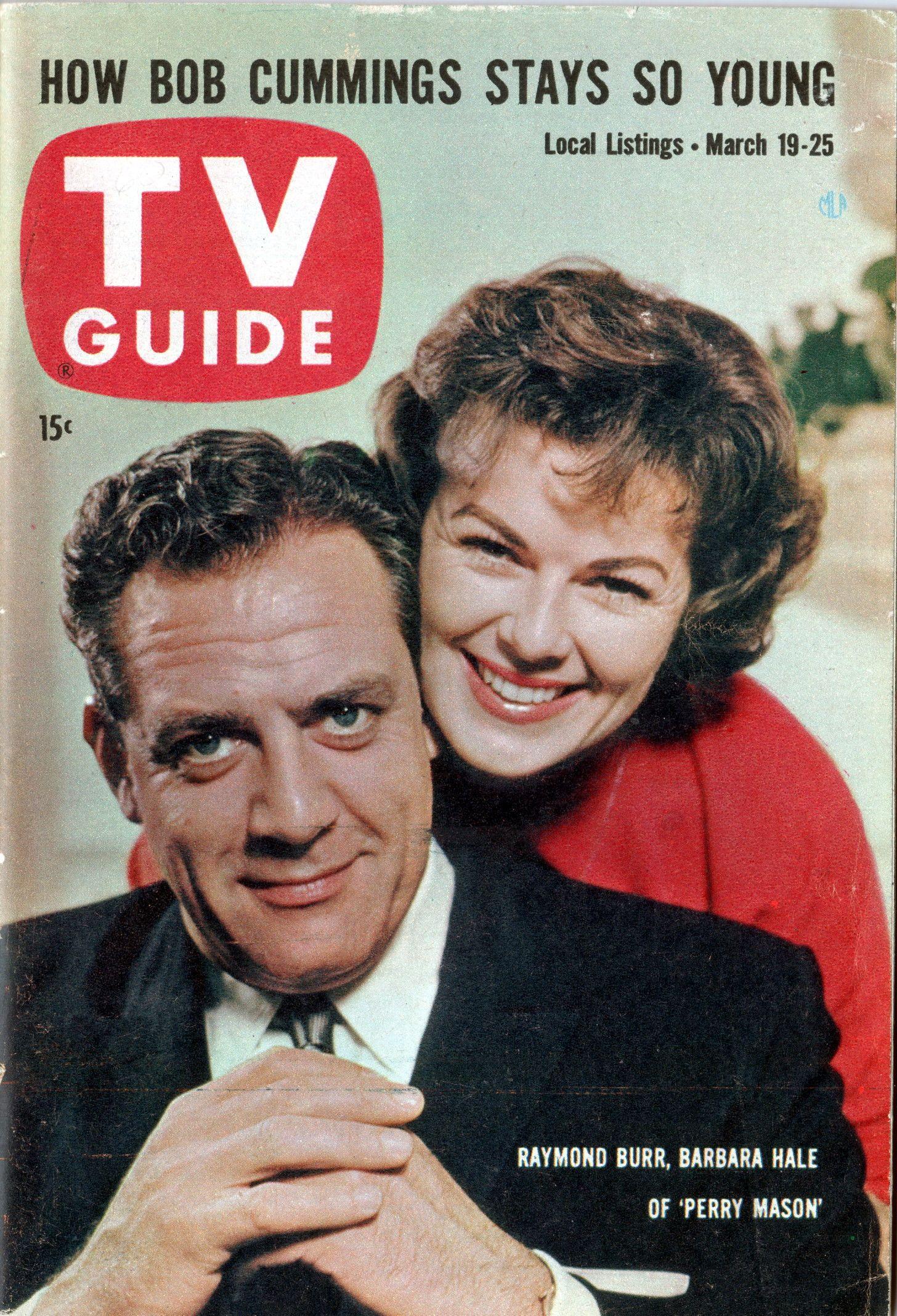 "Raymond Burr & Barbara Hale of ""Perry Mason"" March 19-25, 1960"