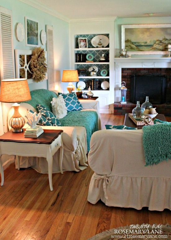 Summer Home Tours Series Love these colors for Master Bedroom