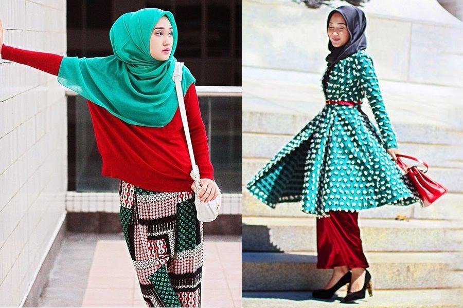 Padu Padan Warna Baju Komplementer Dian Pelangi Hijau Dan Merah