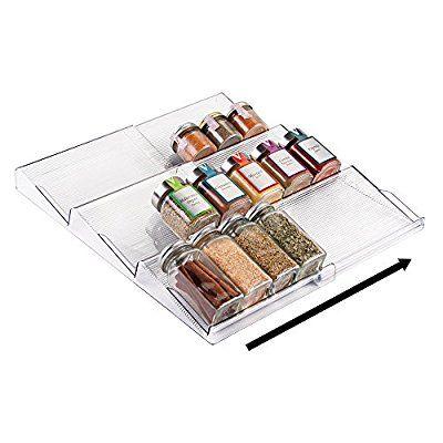 mDesign Gewürzregal Schublade - ausziehbare - organisation kuchen schubladen