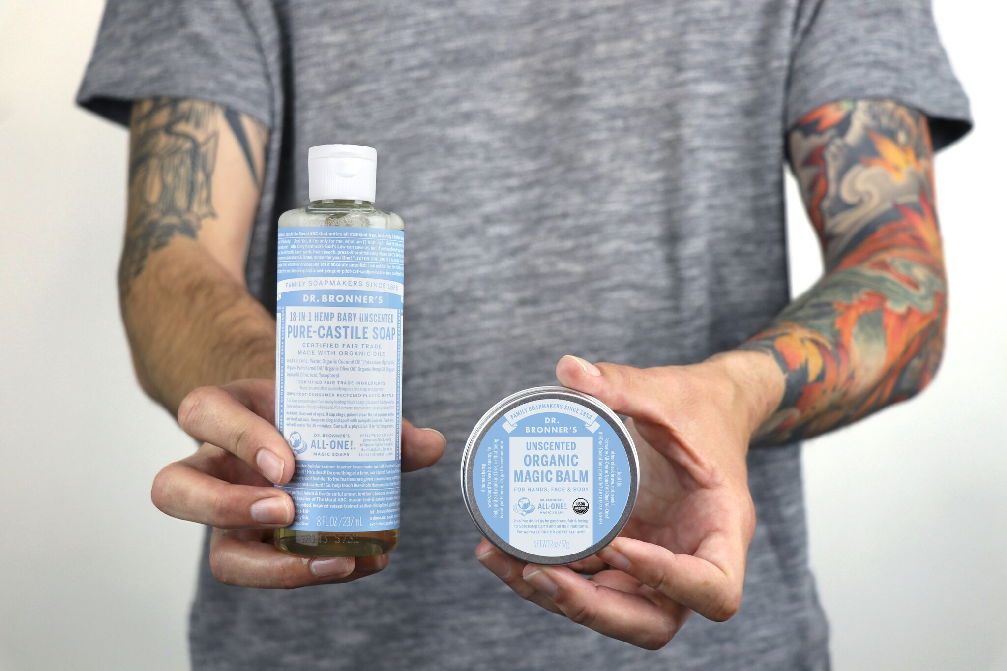 Tattoo Care with Dr. Bronner's Tattoo care, The balm