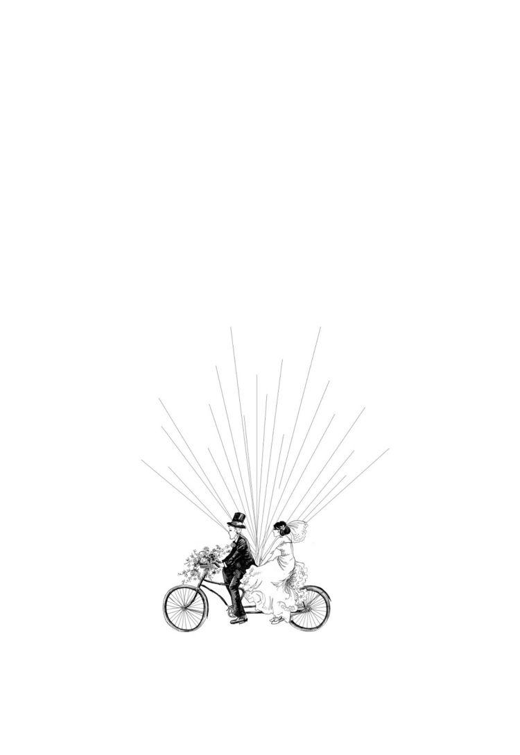 fingerabdruck-baum-vorlage-fahrrad-paar-hochzeit-brautpaar-ballons ...