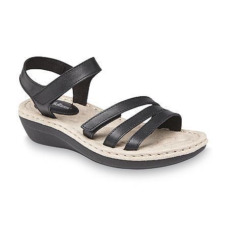 Kmart.com | Black wedge sandals, White