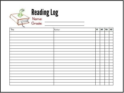 Free Summer Reading Log Printables | Reading Logs And School