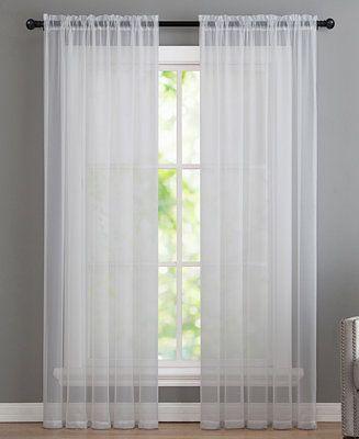 Infinity 55 X 108 Sheer Panel White Paneling Home Sheer Window