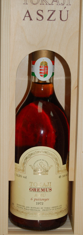 1972 Tokaji Aszu 6 Puttonyos Oremus Wines Ketchup Bottle Bottle