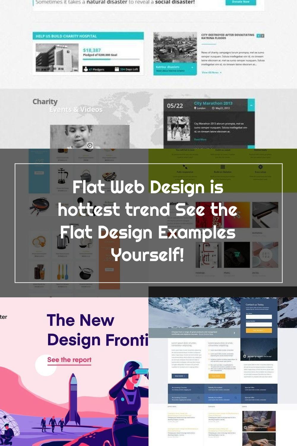 Flat Web Design Is Hottest Trend See The Flat Design Examples Yourself Isharearena Creative Hub In 2020 Web Design Flat Web Design Flat Web