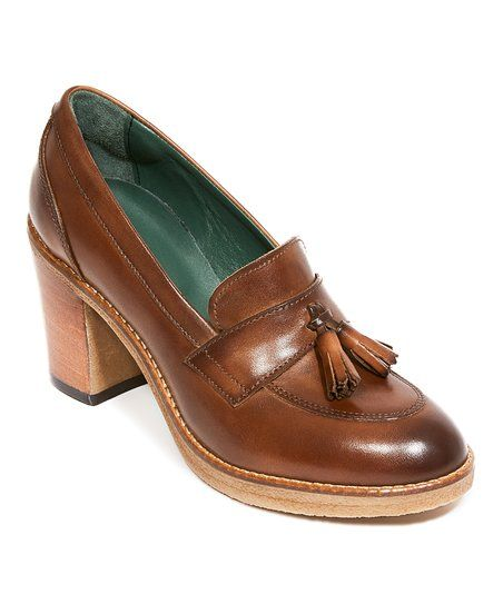 beaa39b38a British Passport Dark Brown Leather Tassel Loafer Pump - Women ...