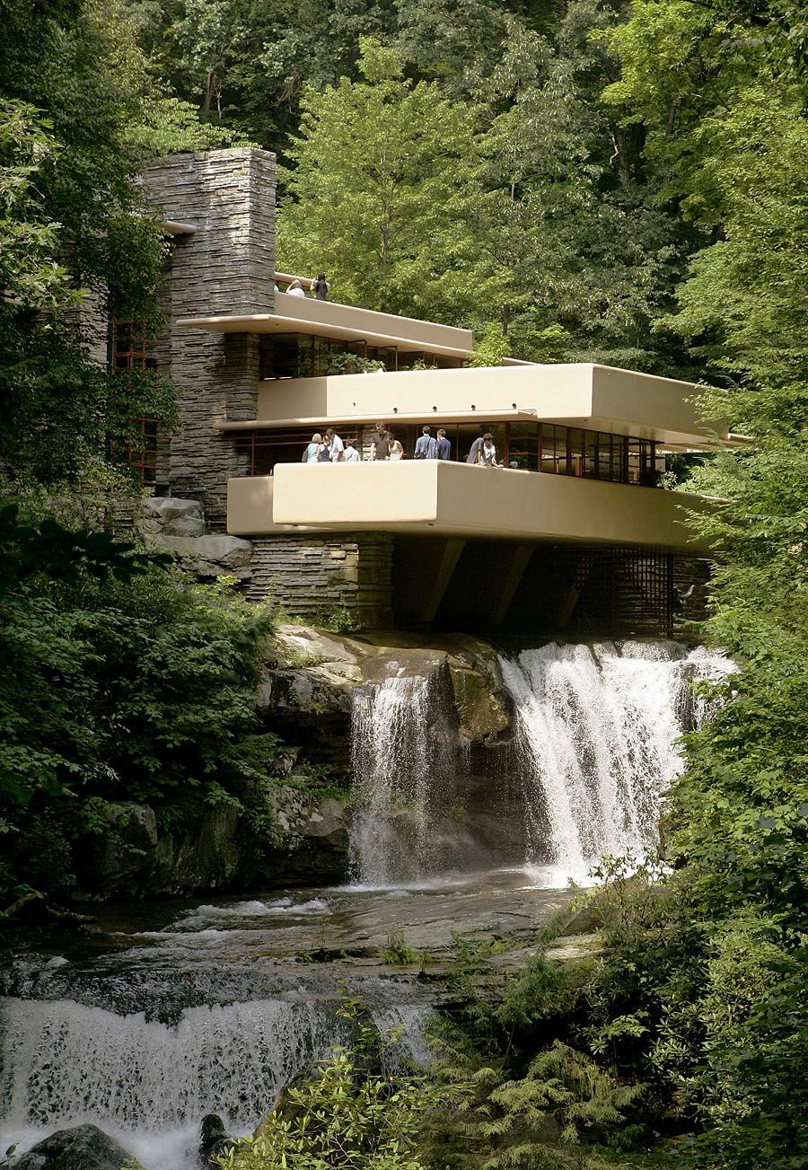 Whenever guests visit my hometown i suggest they visit frank lloyd wrights house falling water treasuredtravel
