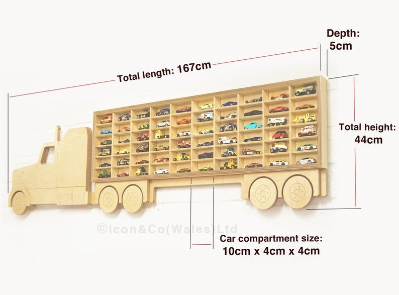 Hot Wheels Shelf Toy Car Storage Truck Shelving Unit Us Tractor Free Uk Delivery Birch Plywood Birthday Present Ideas For Him Boys Gift Toy Car Storage Hot Wheels Shelf Car Storage