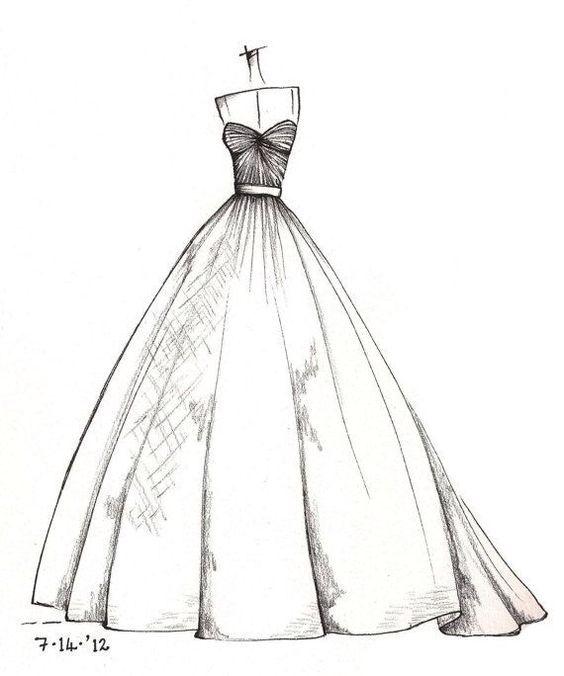 Dibujos De Diseño De Moda, Bocetos