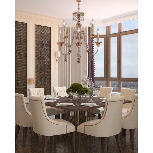 french inspired lighting. MIGNON Decorative French Inspired 8 Light Chandelier Lighting