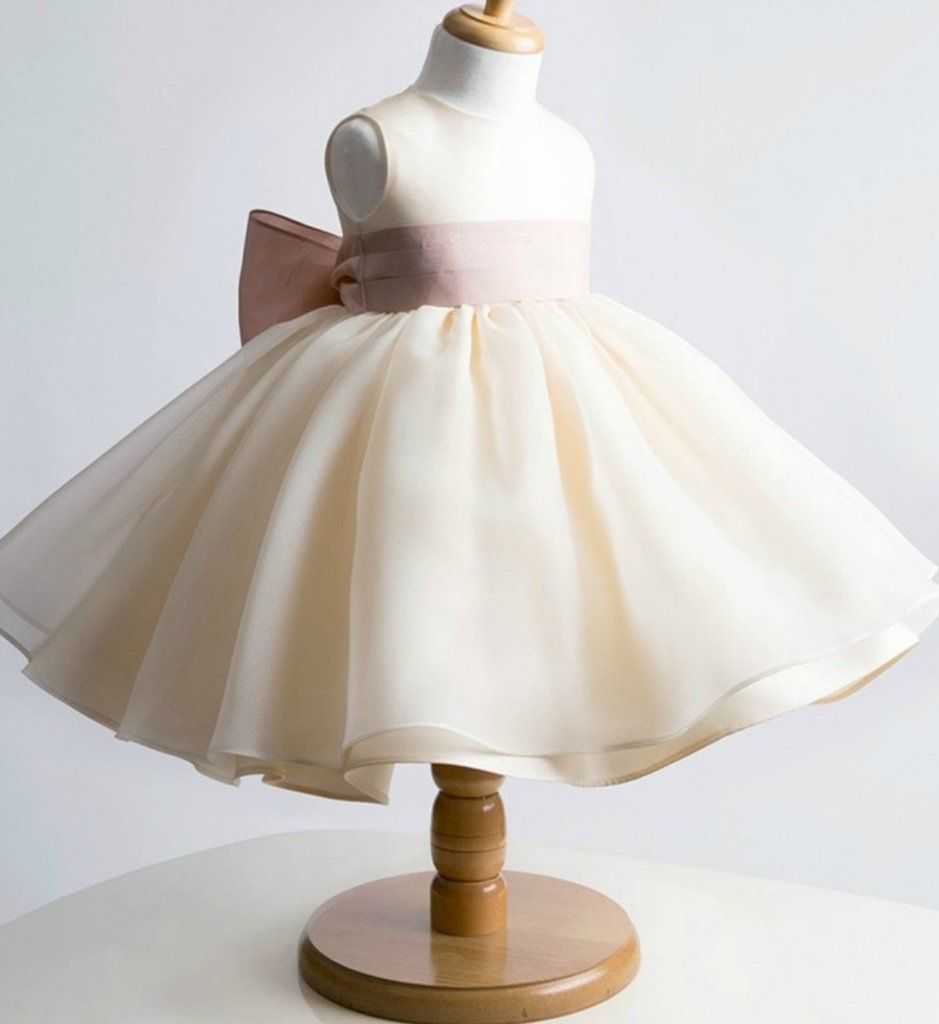Simple big bow dress big bows years and neckline
