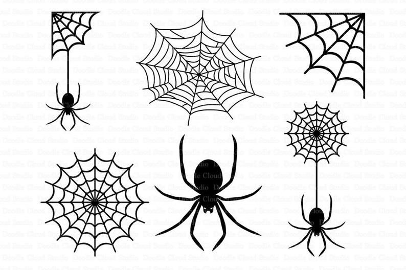 Spiders And Spider Web Svg Files For Silhouette Cameo And Cricut Clipart Png Transparent Included In 2021 Spider Drawing Web Tattoo Spider Web Tattoo