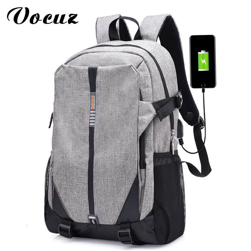 5b6a4ab1f534 USB Unisex Design Backpack Book Bags for School Backpack Casual Rucksack  Daypack Oxford Canvas Laptop Fashion Man Backpacks  Affiliate