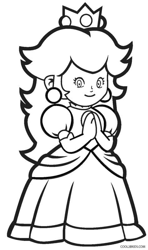 Printable Princess Peach Coloring Pages For Kids | Cool2bKids | game ...