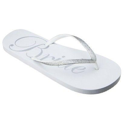 1f415edf6 Bride flip-flops from Target