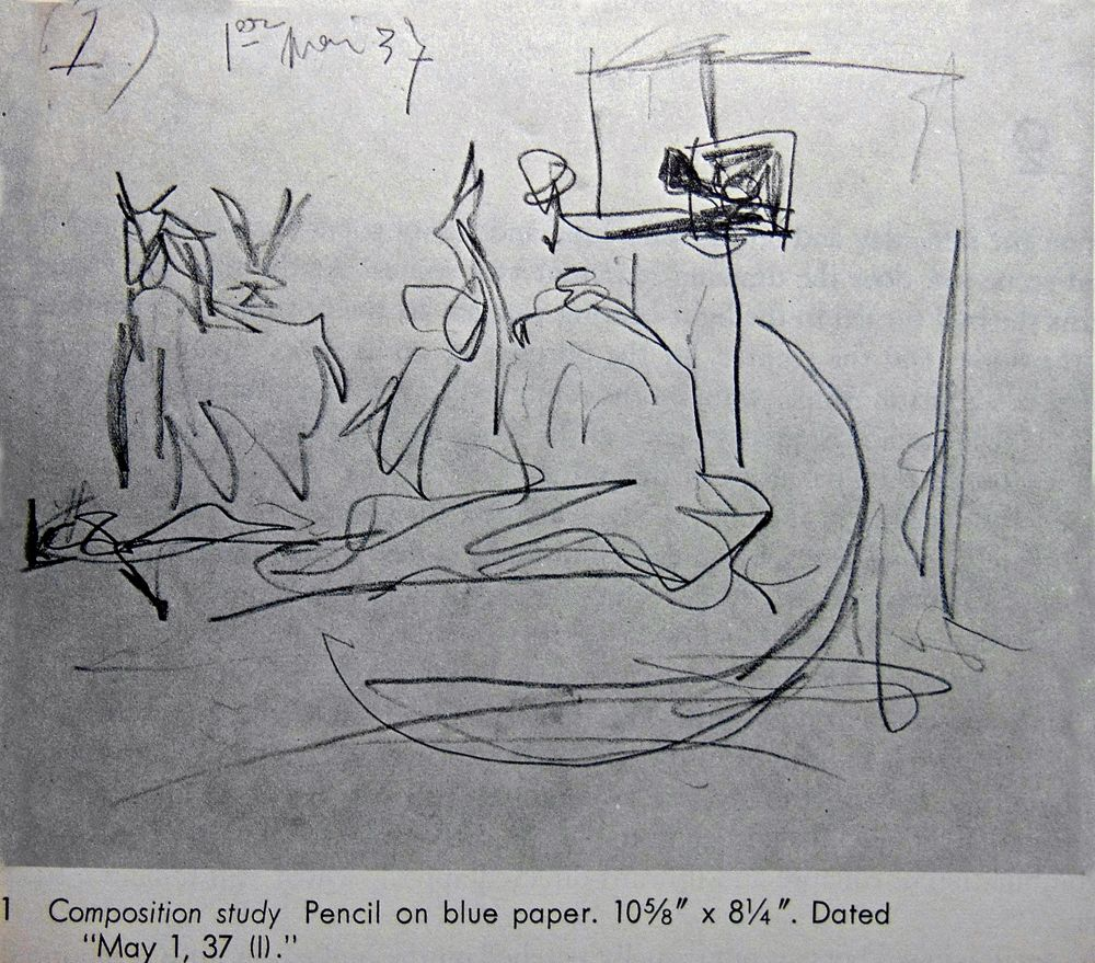 Guernica Sketch | Images of Picasso's Sketches for ...