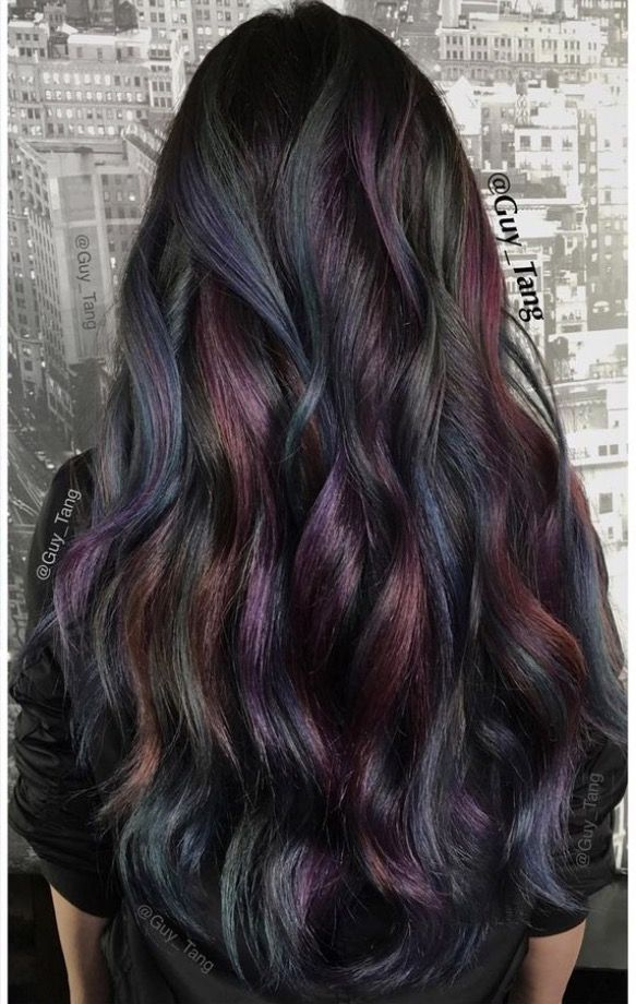 Oil Slick Hair Color Love Buns And Updos Pinterest Oil