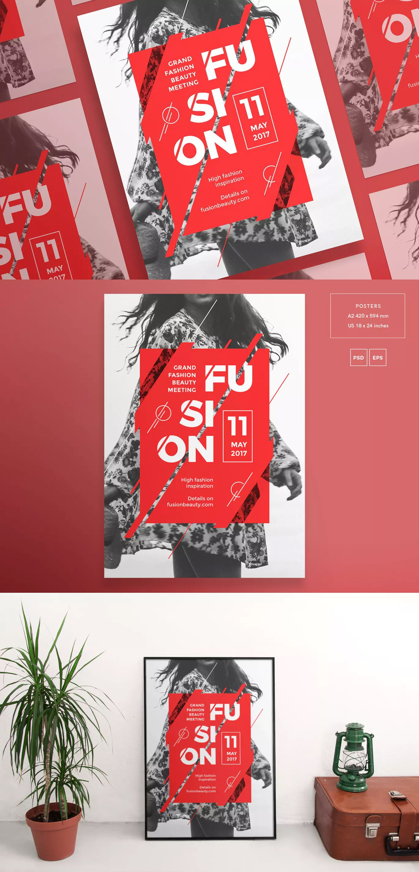 fashion meeting poster template eps psd fully editable designed