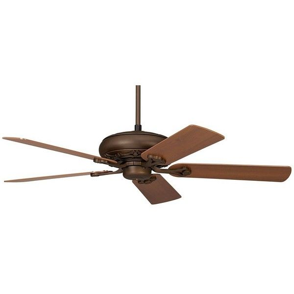Trilogy Bronze Ceiling Fan 120 Liked On Polyvore Featuring Home Decor Fans Casa Vieja Low Profile Pull Chain