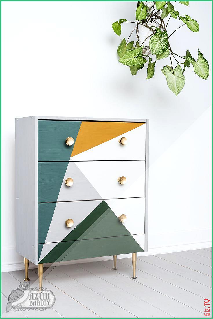 Ikea Rast Hack Milchfarbe Geometrische Kommode Moderne M Bel Im Boho Stil Upcycling Ideen I In 2020 Furniture Makeover Diy Ikea Rast Hack Victorian Furniture For Sale