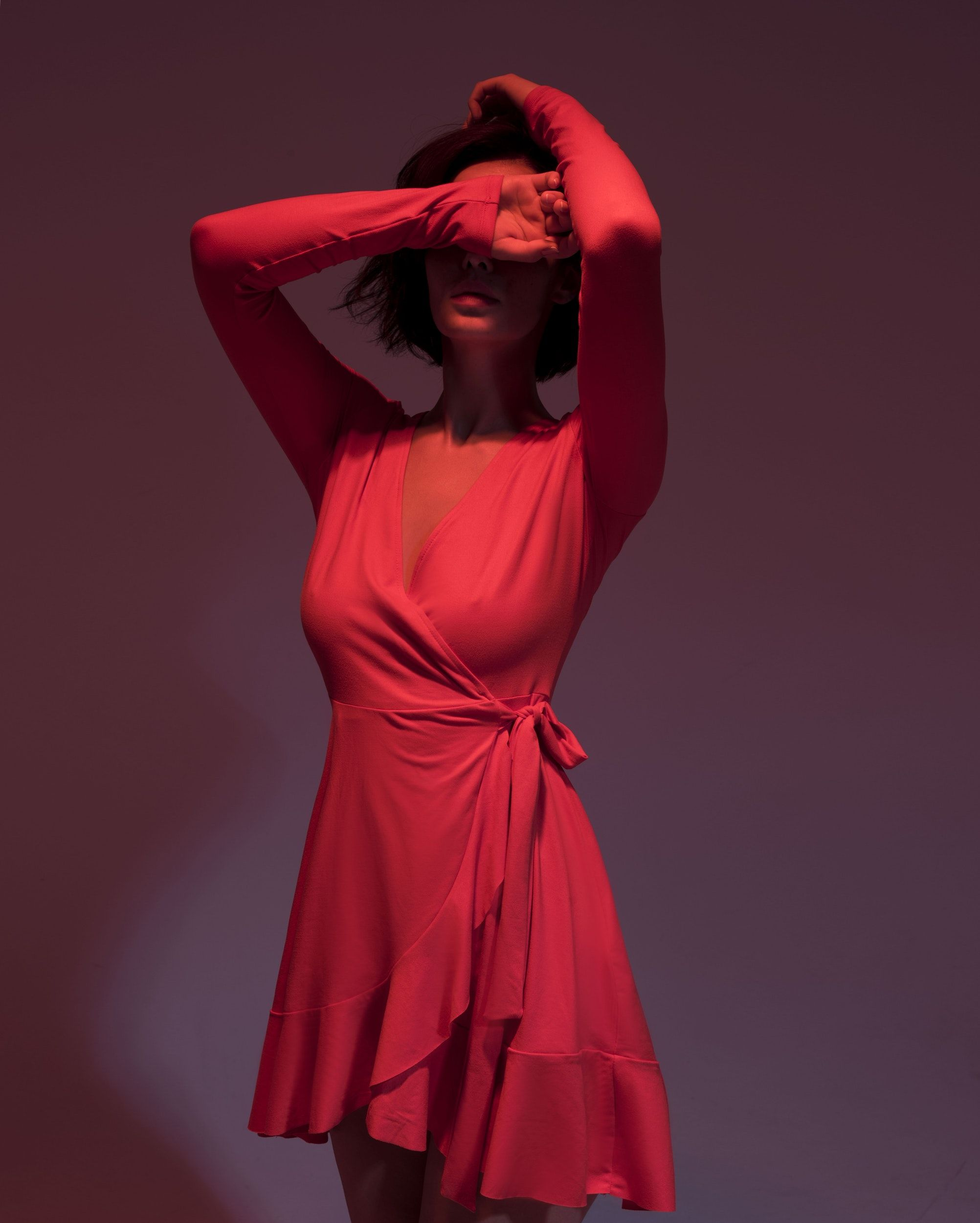 Dress Clothing Apparel And Person Hd Photo By Ospan Ali Ospanali On Unsplash Neon Fashion Fashion Red Dress Short