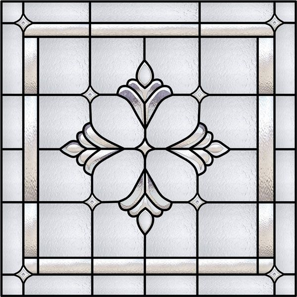 Bradham Bevel Window Faux Privacy Stained Glass Clings And Window