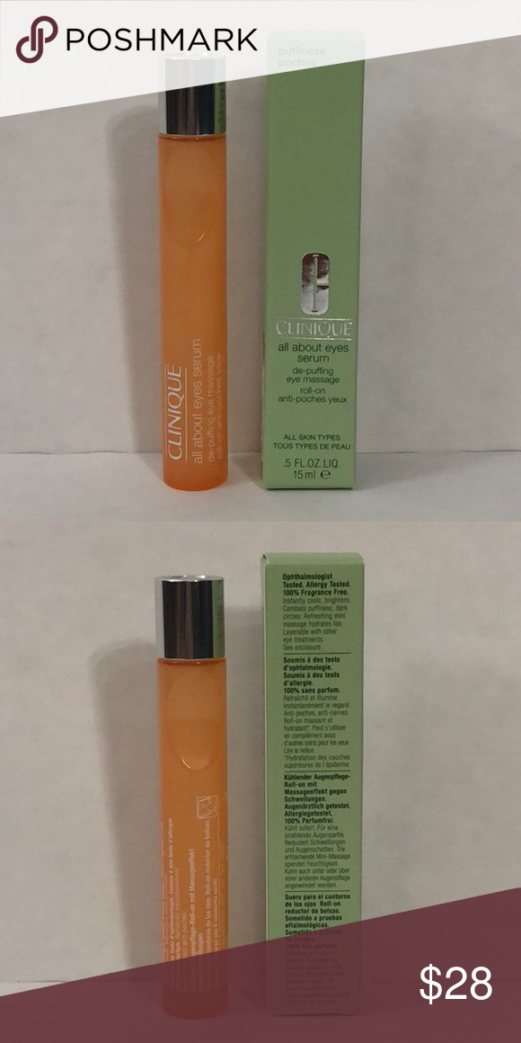 Clinique All About Eyes Serum De Puffing Roll On Eye Serum Clinique Serum