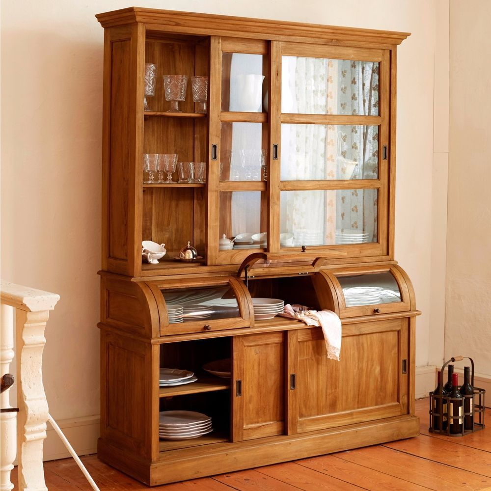 Lovely Vitrinen im Landhaus Stil aus Massivholz f rs Badezimmer