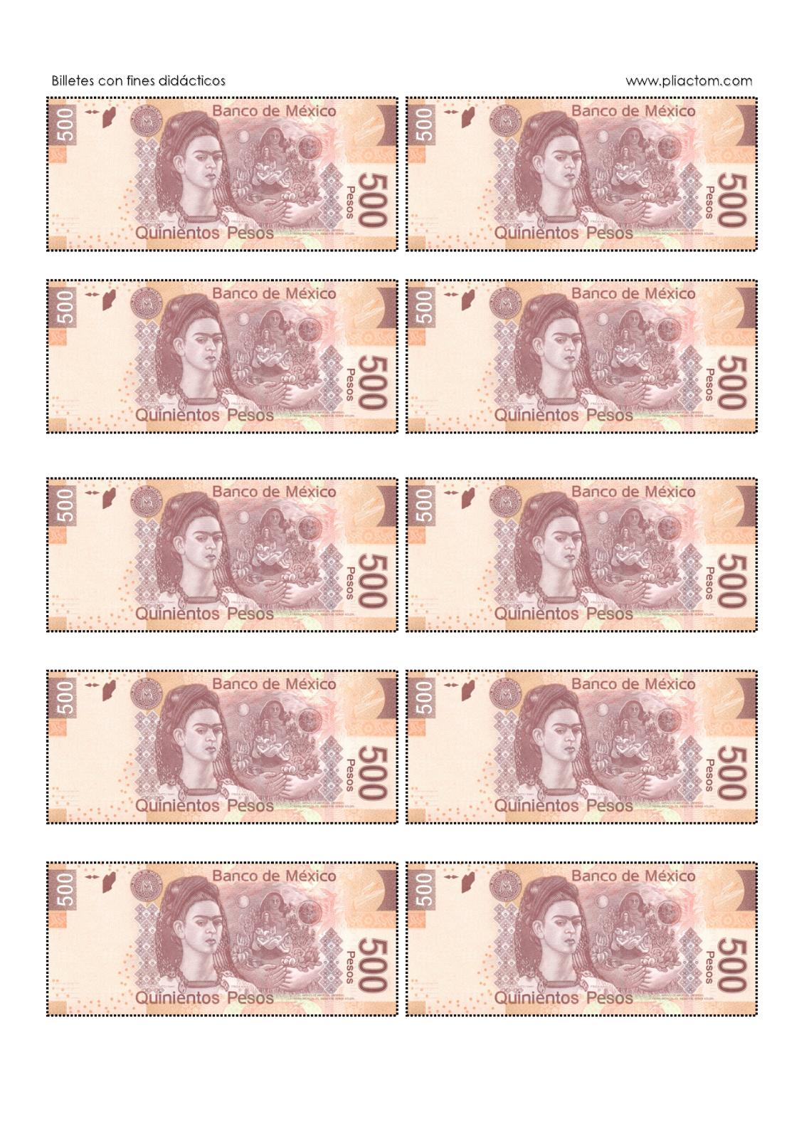 Billetes didácticos para imprimir - Recursos e información para ...